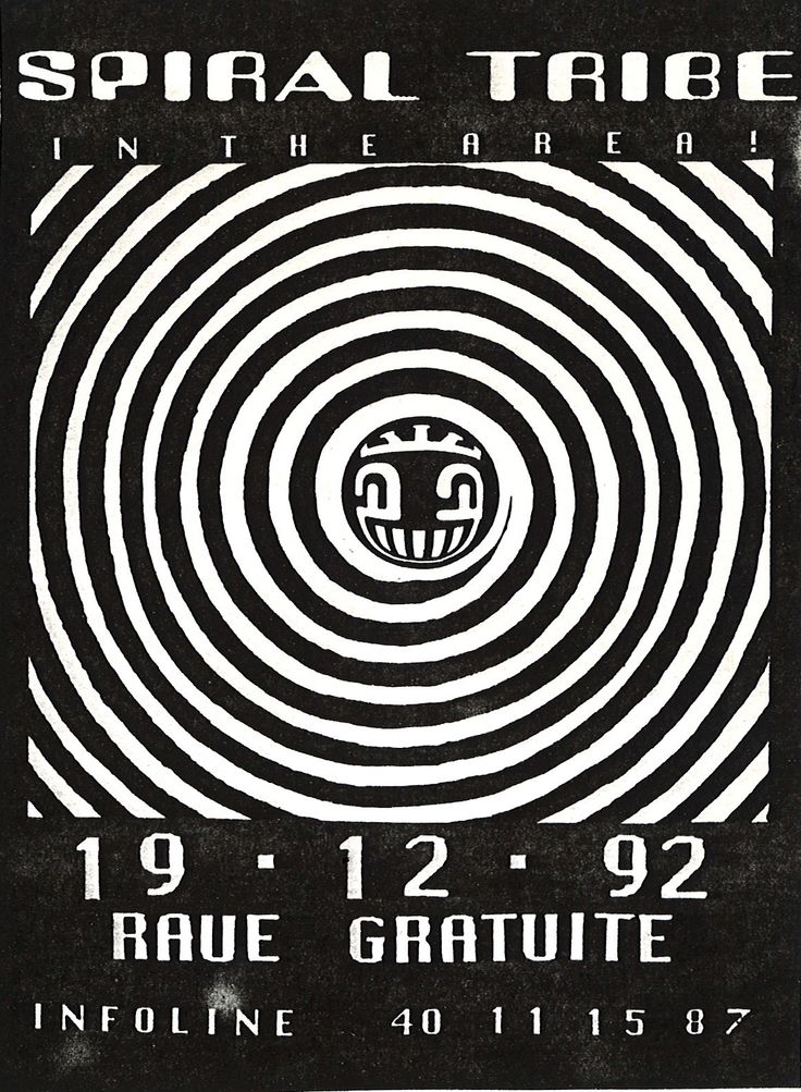 FLYER FREE PARTY SPIRAL TRIBE 19-12-92