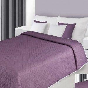 tmavofialovy prehoz na postel