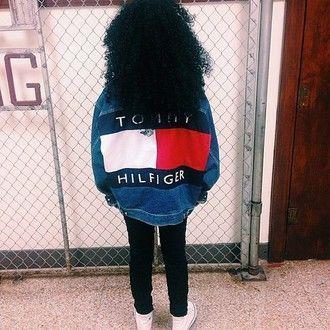 jacket tommy hilfiger denim denim jacket vintage vintage denim trendy american apparel aa ua urban outfitters bold tommy hilfiger jacket oversized jacket vintage tommy hilfiger tommyhilifier jacket vintage jacket