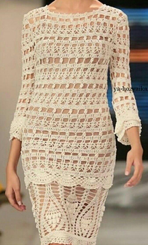 9508cc0817 Pin de carmen monroy en vestidos crochet