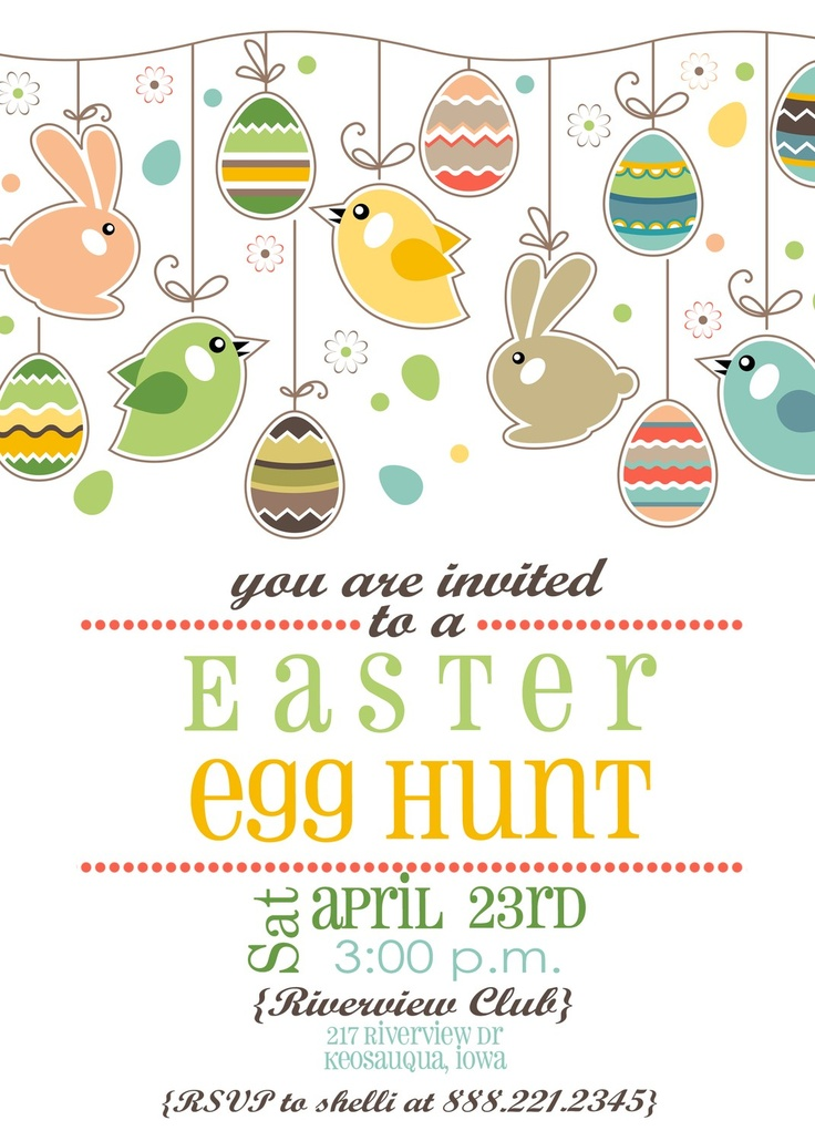 12 best Easter theme invitations images on Pinterest Invitation - easter invitations template