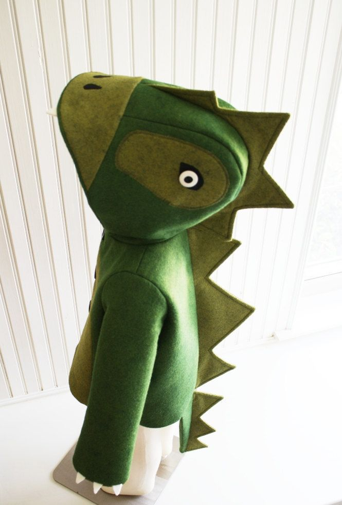Kids Coat: Cheeky Green Dinosaur. $150.00, via Etsy. So fun!