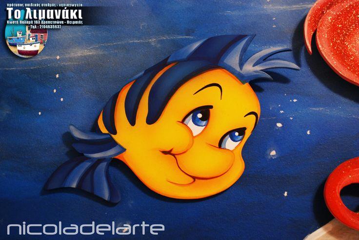 Ζωγραφική παιδικού δωματίου ( Κερατσίνι - Πειραιάς )  Child's room wallpainting ( Keratsini - Piraeus ) Greece