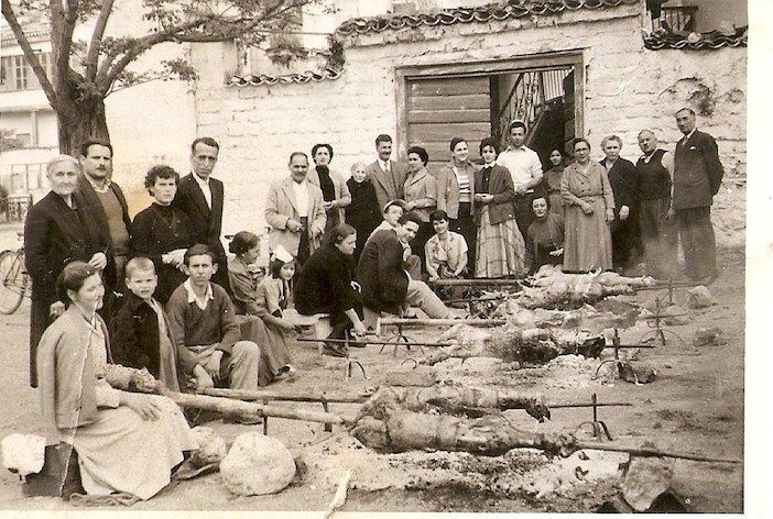 Greeks and their Easter celebrations from the 1930s to the 1960s... There's always a crowd, as Easter is a festive time. And there's always lamb roasting o