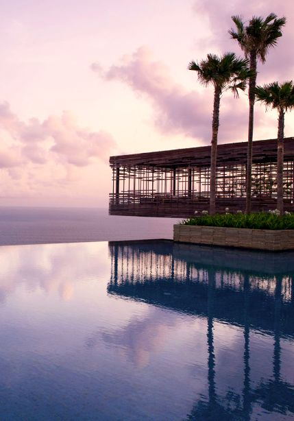 Set along the clifftop on #Bali's rustic Bukit Peninsula, this resort balances a striking modern style with a commendable environmental commitment.