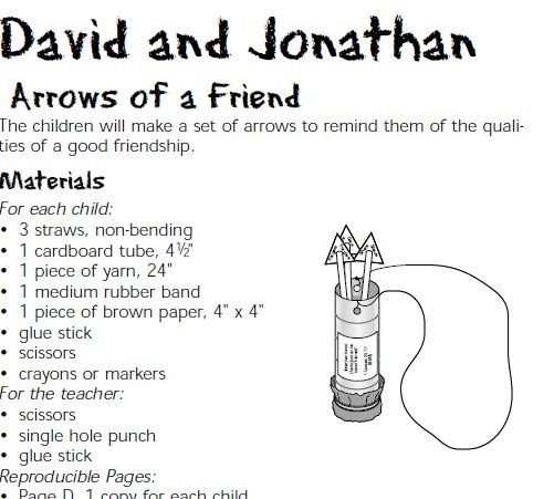53 best David and Jonathan images on Pinterest | Sunday school ...