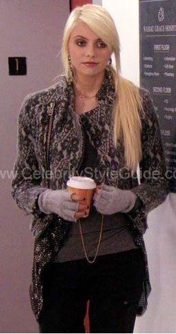 gossip-girl Marc by Marc Jacobs Lace Wool Jacket in Black Multi
