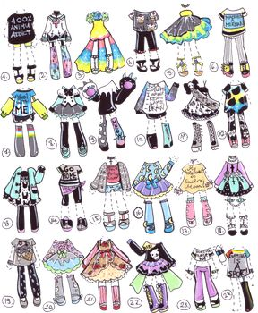 DeviantArt: More Collections Like SOLD- OutfitShop by Guppie-Adopts
