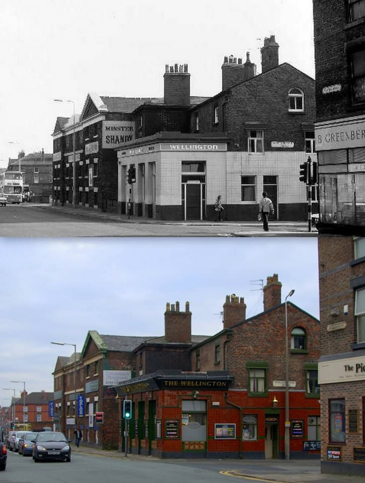 The Wellington pub - Picton Rd, Wavertree, 1978 and 2013