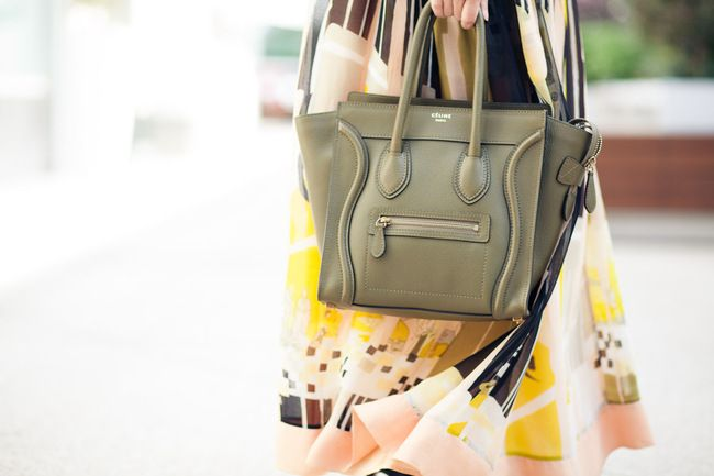 what-do-i-wear:    Dress :: French Connection,Bag :: Celine Luggage 'Micro' size(image:wendyslookbook)