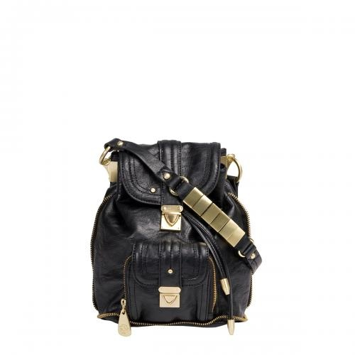 Lovely pleather backpack. You'll be surprised to know it's a Mischa Barton bag?!