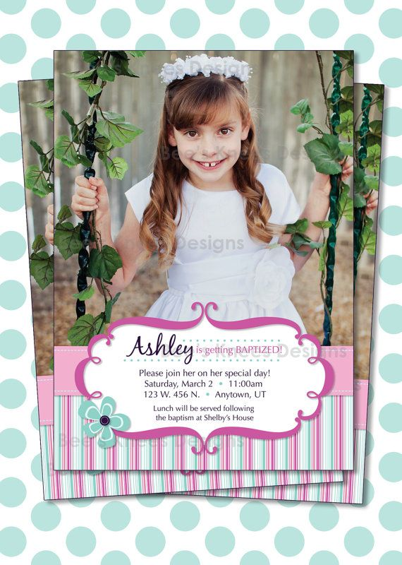 LDS Baptism Invitation Girl Great to be 8 | To be, LDS and ...