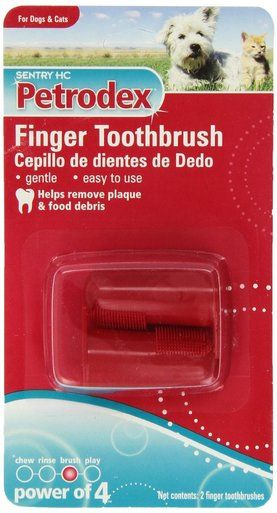 Petrodex Deluxe Finger Toothbrush Plaque Tartar Remover Control for Dog and Cat