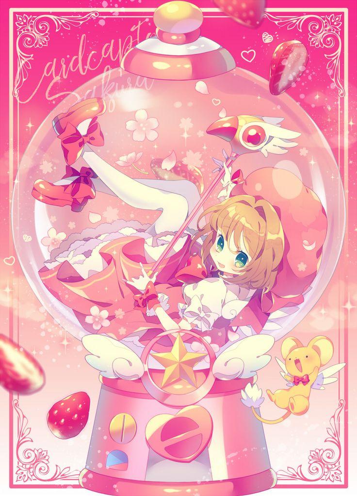 "thetangles: ""★ 夢ノ内 | ✿ ☆ ⊳ sakura and kero (cardcaptor sakura) ✔ republished w/permission """