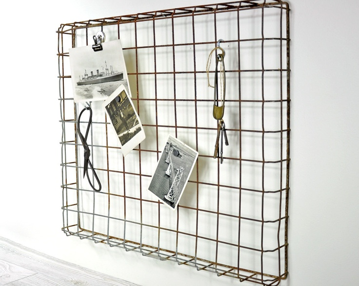 Vintage Wire Display Rack / Metal Basket / Industrial Decor. $36.00, via Etsy.