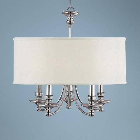 "Midtown Collection Polished Nickel 25"" Wide Chandelier(R7635) $500"