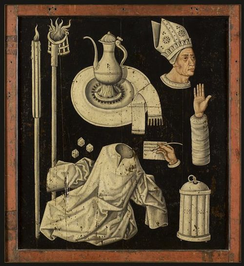 Volet d'un triptyque: miracle de la Verge fleurie [1470]