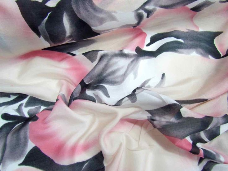 This printedsilk voile fabricis light and somewhat sheer. Suitable…