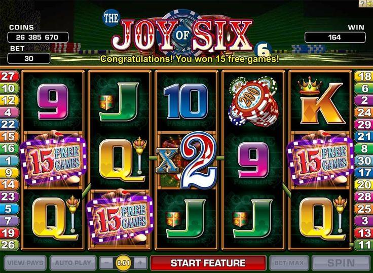 Joy of Six c'est un slot de Microgaming qui reproduit tous les traits du casino luxueux réel avec des croupiers, des cigares et des jetons. Le multiplicateur maximale de x6 a donné le nom du jeu. Mais les options proposées ne se limitent pas à cela. Wild, Scatter, jeu de risque et tours gratuits sont à votre disposition! Tentez vos forces!