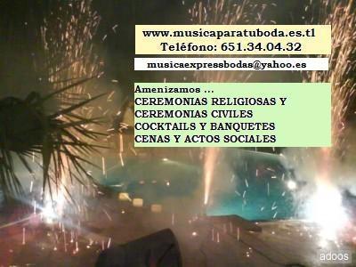 MUSICA PARA BODAS: CEREMONIAS RELIGIOSAS, CEREMONIAS CIVILES, COCKTAILS Amplio Repertorio. Visita nuestro espacio: www.musicaparatuboda.es.tl  www.musicabodasalicante.webs.com