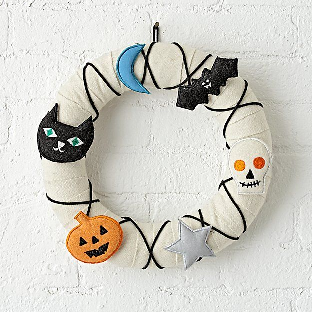 Not So Scary Halloween Wreath | The Land of Nod