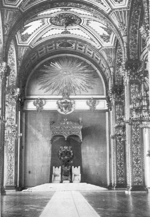 Romanov throne in the Kremlin.