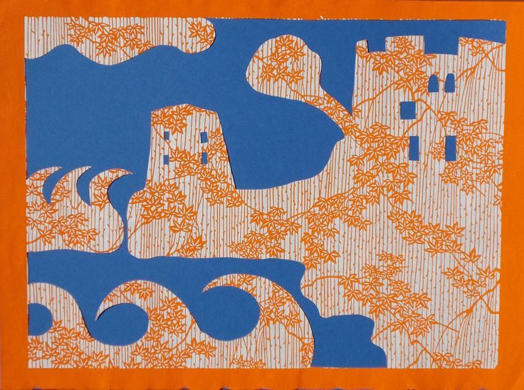 Torri di Fornillo. paper cutting, carta washi, 2015