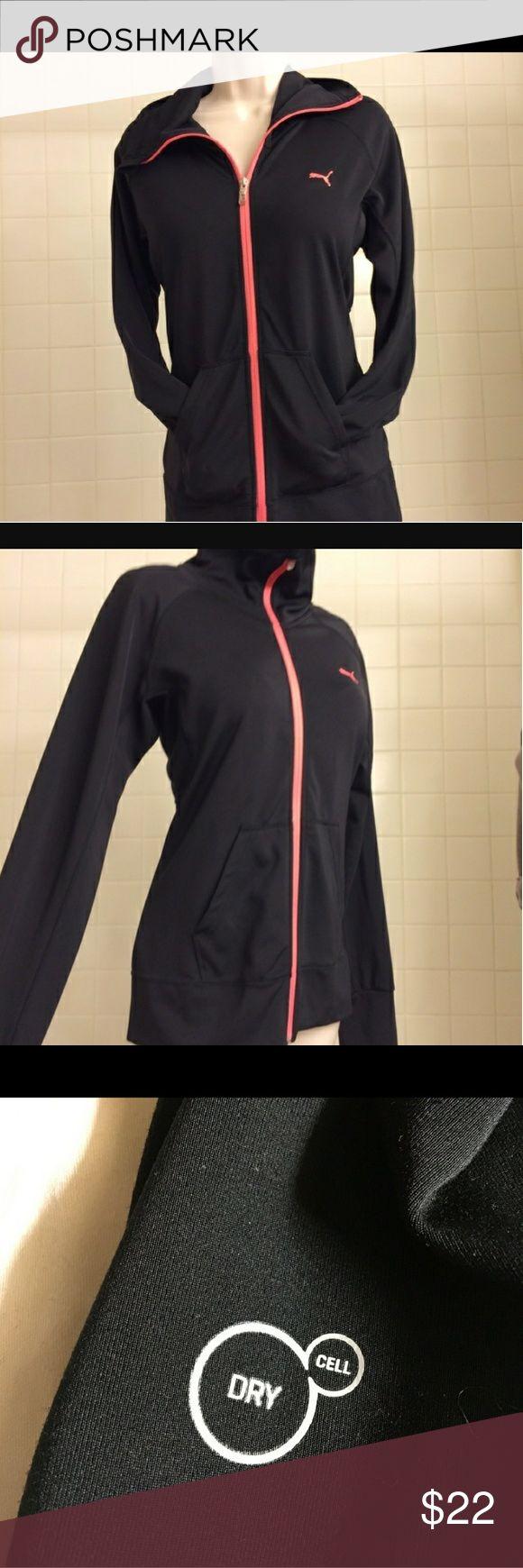 NWOT BLACK PUMA EXERCISE COAT HIGH COLLAR, POCKETS, SUPER SOFT Puma Jackets & Coats