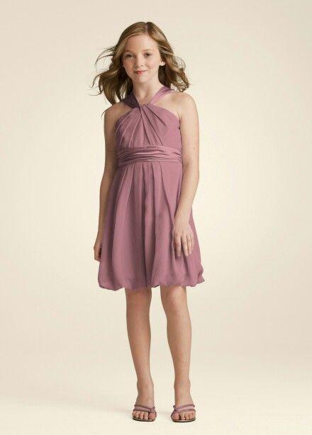 2ceac5d73d Chiffon Dresses  David s Bridal Junior Bridesmaid Dress