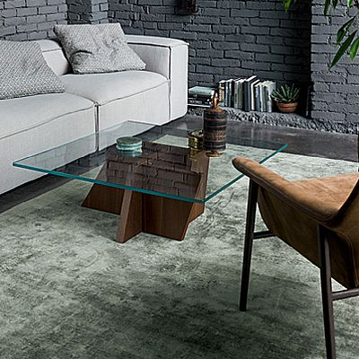 Elegant wooden and glass 'Stripe' coffee table. Luxury and high quality materials for a unique and exclusive design. My Italian Living.