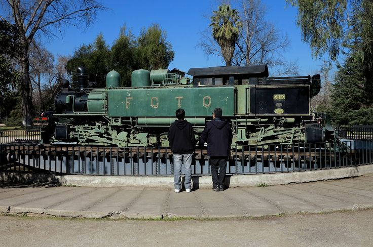 Locomotora Nº3349 Tipo Z construida en Inglaterra por Kitson para prestar servicios en el Ferrocarril Trasandino entre Los Andes (Chile) y Mendoza (Argentina), entre los años 1911 y 1971. Hubo nueve de este tipo (Tres en Chile y 6en Argentina), quedando en la actualidad sólo las 3 chilenas, las únicas de su tipo existentes en el Mundo. (Cecilia Profetico)