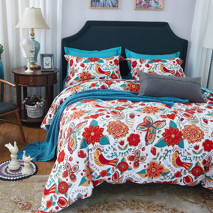 Papa&Mima noble mandala style geometric bedlinens high quality sanding cotton fabric Queen/King size duvet cover set bedding set купить на AliExpress