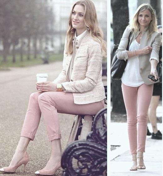 Resultado de imagen de abbinare pantaloni rosa