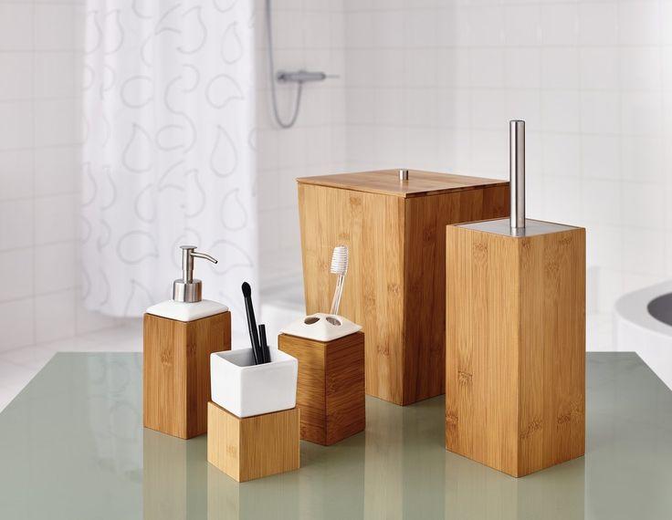 BAMBOO koš do koupelny s víkem, SAPHO E-shop