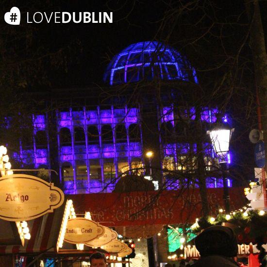 #StephensGreen #Shopping Centre as seen from the #Christmas #Market in #Dublin #LoveDublin #December