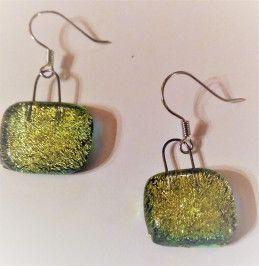 Brilliant green earrings