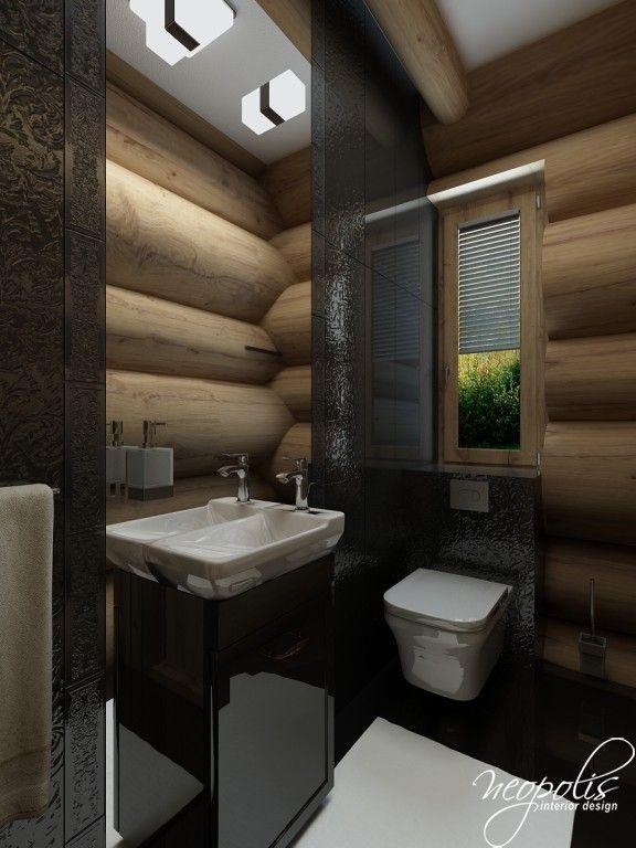 Kúpeľňa v čiernej farbe