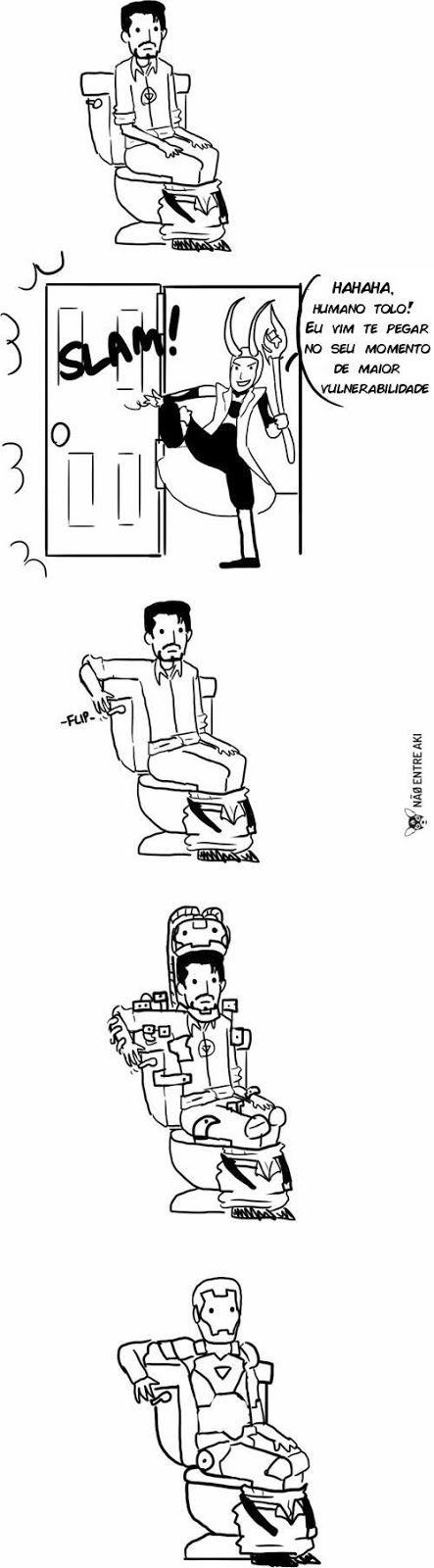 RPG, manga , quadrinhos , cultura em geral: Homem de ferro está sempre preparado