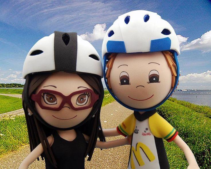 Una pareja de ciclistas en fofutandem!!!