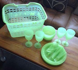 camping equipment Unusual Hard Plastic Hamper Excellent Condition Rare Find   eBay