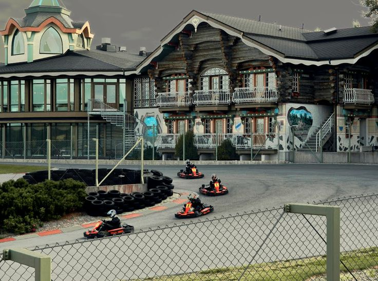Powerpark Go-kart racing Mika Salo Circuit & Park Hotel. Alahärmä Finland.