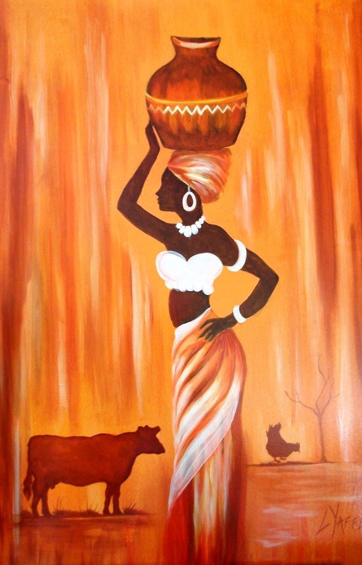 African Woman - Original oil painting available directly from Artist Loraine Yaffe. Email lyaffe7@gmail.com