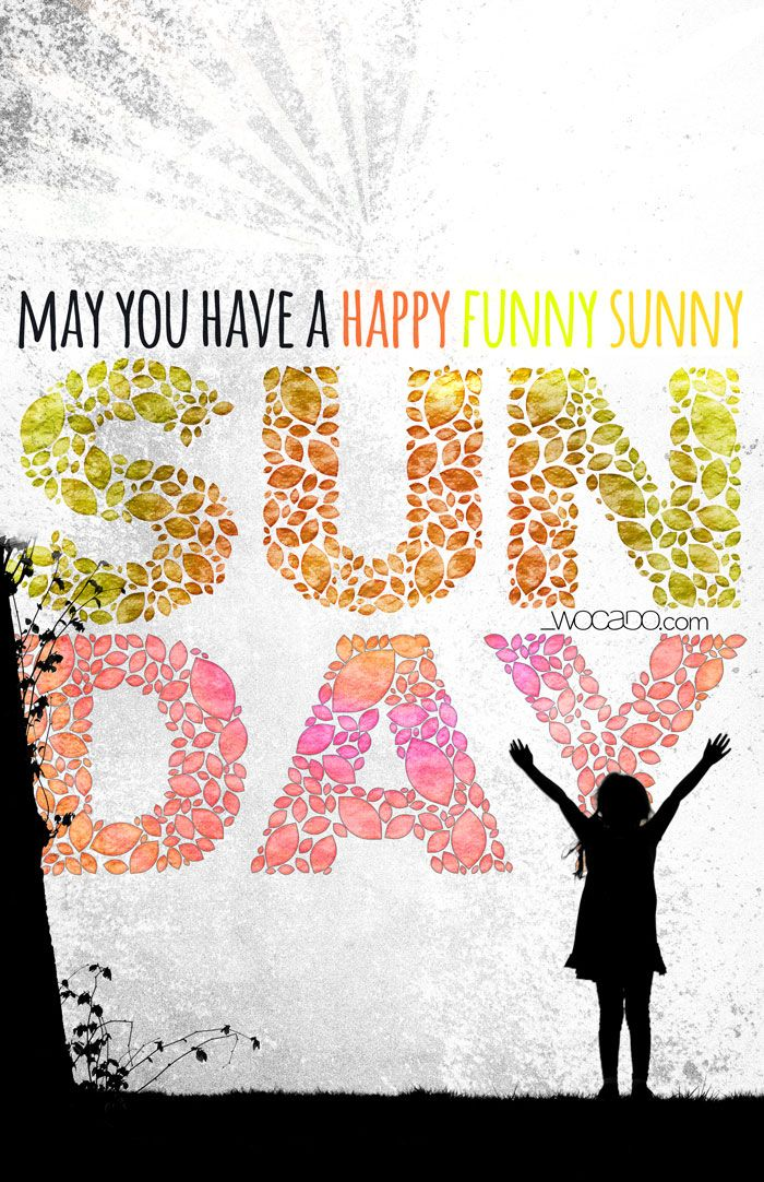 Happy Funny Sunny Sunday FREE #printableposter by WOCADO - Instant Download