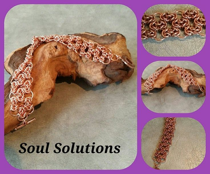 Barstardized Byzantine bracelet in copper. Stunning piece. Definitely found out how the weave gained its name