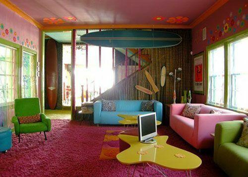 Wohnzimmergestaltung ideen im retro stil farben und for Wohnungsgestaltung farben
