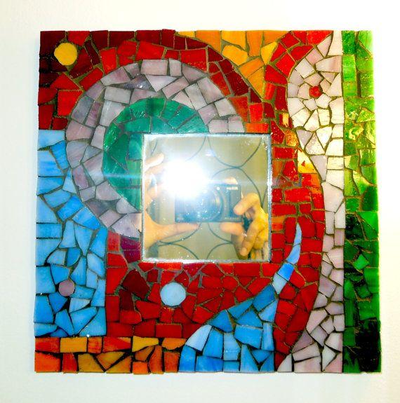 Espejo mosaico por AuramArt en Etsy