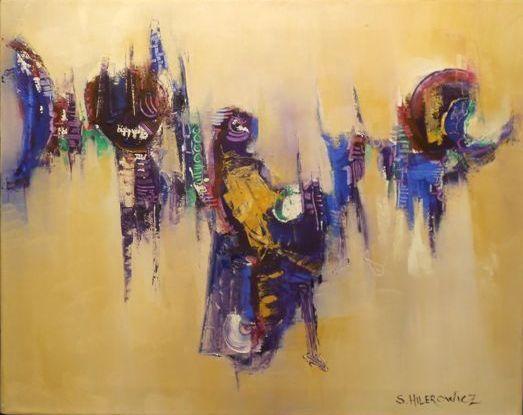 """""""El Carnaval de Oruro"""" - Silvia Hilerowicz - Oleo sobre tela - 40 x 50  www.esencialismo.com"""