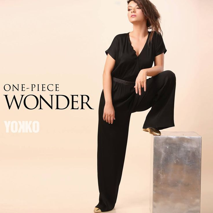 OVERALL , the piece you have to try! SUMMER 17   YOKKO #overall #summer17 #women #fashion #style #black
