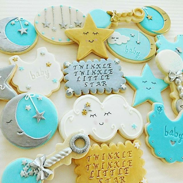 Super sweet baby shower cookies by @from.mireyas.kitchen using the Scalloped Rectangle cookie cutter from my shop. - - - -  #twinkletwinklelittlestar #star #babyshower scalloped plaque from @howsweetisthat  #cake #homemade #customcookies #decoratedcookies #yummy #dessert #love #baking #sweet #delicious #cupcakes #cookie #instagood #yum #cakes #sugarcookies #cookieart #madeinnewyork #cookiedecorator #ilovebaking #nycbaker #local #queensbaker #eventplanner #rattle #howsweetisthat