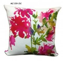 Mezzo Floral painted cushion cover